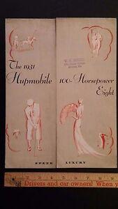 1931-HUPMOBILE-Color-Folder-Sales-Brochure-Very-Good-condition