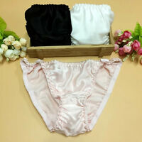 2 Pairs Pure Silk Women's Sexy Knickers  Briefs Size M L XL