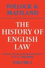 History of English Law Vol. 2 : Before the Time of Edward I by Frederic...