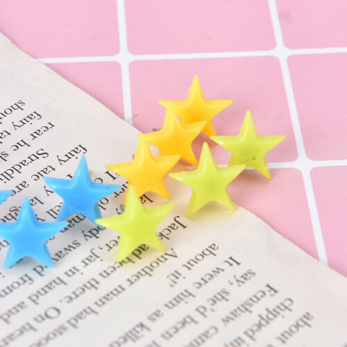 12X star multi-coloured translucent assorted push pins drawing cork board J/&S