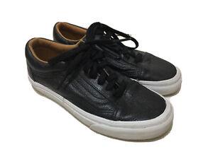 VANS-Old-Skool-Leather-Black-Sz-Eu-36-5-US-M-5-US-W-6-5-UK-M-3