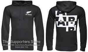 New Zealand All Blacks Essentials Hooded Rugby Jumper Sizes S-3XL!
