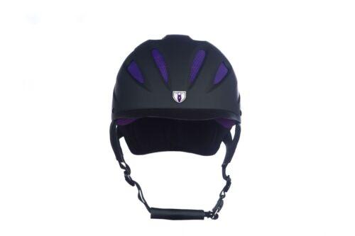 Tipperary Sportage Hybrid Western Riding Helmet Low Profile Horse Black Purple