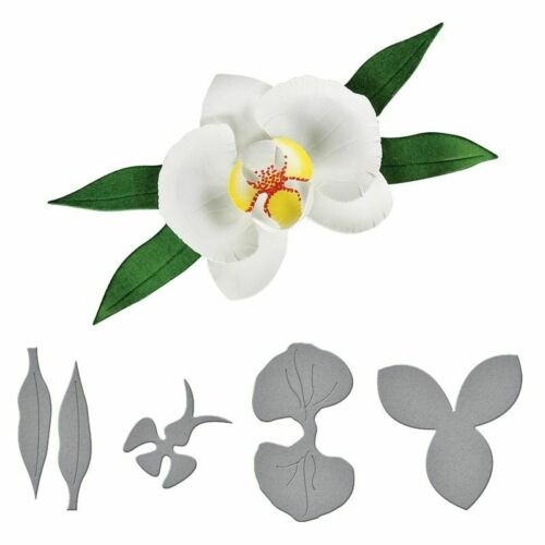3D Layered Orchid Metal Cutting Dies DIY Scrapbook Greeting Card Embossing Mold