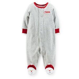 feddcee3431f New Carter s Velour Sleep n Play Santa s Helper PJs Newborn 6m 9m ...