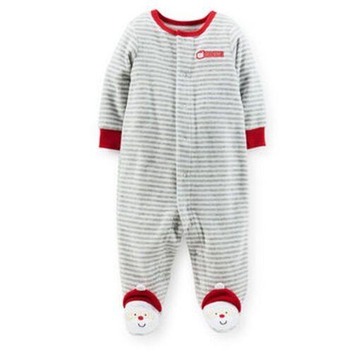 New Carter/'s Velour Sleep n Play Santa/'s Helper PJs Newborn 6m 9m NWT Boys Girls