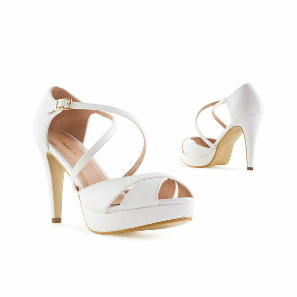 9,5 cm Boules blanches talons High Heels Sandales untergrössen petite taille 32 33 34 35