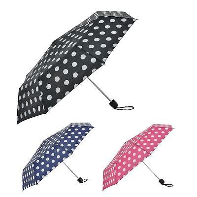 Hilfreich Drizzles Marine / Rosa Penny Punkte Super Mini Regenschirm Mit Hülle Uu187
