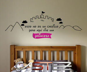 vinilo-decorativo-pared-casa-infantil-AQUI-VIVE-UNA-PRINCESA-CASTILLO-vinyl