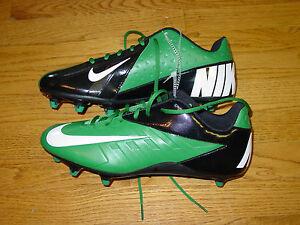 Mens 12 NIKE Vapor Strike Footballl Spikes Cleats Green Black 511336-310