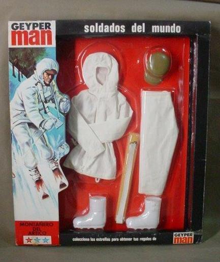 Vintage - gi joe geyper mann sotw (arctic bergsteiger) outfit geyperman mip - 1975