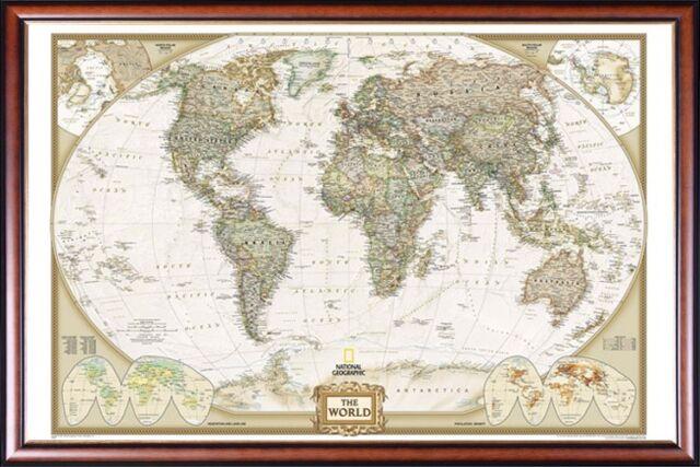 Tubed World Executive Wall Map