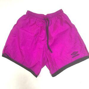 Vintage-Umbro-Shorts-Purple-Adult-Small-Drawstring-USA-Soccer-Nylon-Athletic-S
