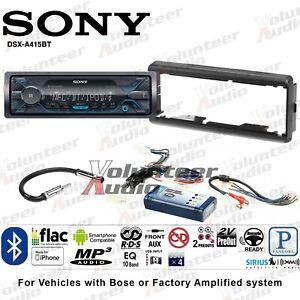 Sony DSX-A415BT Single Din Radio Install Mount Kit Mediaplayer Bluetooth NO CD