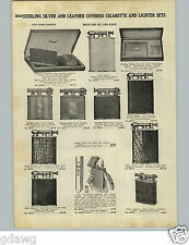 1928 PAPER AD Hahway Clark  Leather Silver Cigarette Lighter