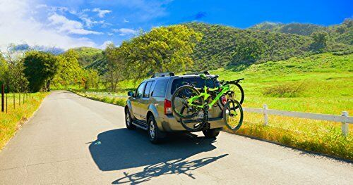 BEST Automotive Dual Bike Hitch Mount Rack w// Folding Carry Arms 70lb Capacity