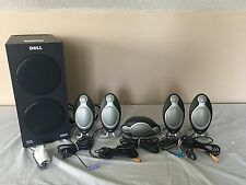 Dell Altec Lansing THX Certified ADA995 Dolby Digital 5.1 Speakers and Subwoofer