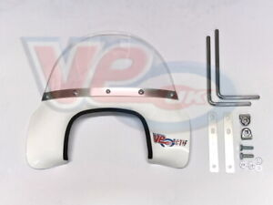Royal Alloy GT Scomadi TL White Flyscreen Fly Screen 125 200 Windshield