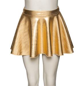 FILLES-FEMMES-metallique-DANSE-CLASSIQUE-BALLET-a-enfiler-jupe