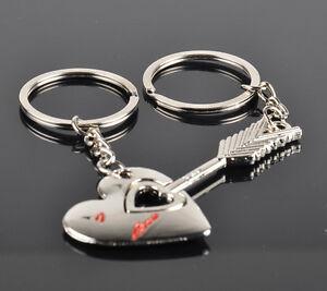 High-Quality-Keychain-Keyring-Valentine-039-s-Day-1Pair-Lover-Gift-Heart-Keyfob