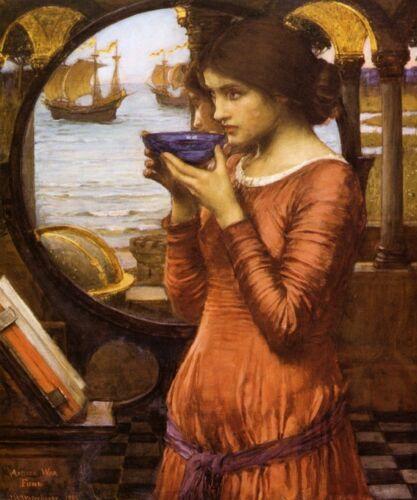 DESTINY GIRL LADY SHIP SAILBOAT OCEAN SEA FINE PAINTING BY J W WATERHOUSE REPRO