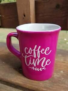 Image Is Loading Coffee Time Pink 10 Oz Mug For