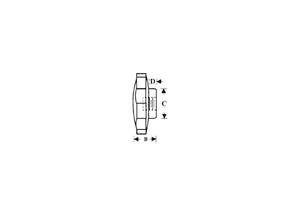 1//2-13 Fluted Hand Nut 2-3//8 hd Phenolic Plastic Knob Fastener E18014
