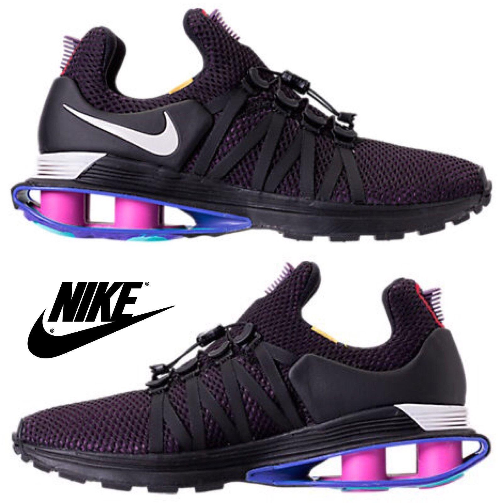 NIB Authentic NEW Homme Nike Shox Gravity AR1999-2018 Chaussures Torch Reax Bk Prpl