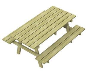 Tavolo da parco con panche integrate adulti tavolo picnic - Tavolo pic nic legno ...