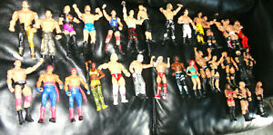 Vintage-Lot-Of-31-Wrestling-Action-Figures-Wrestlers-WWF-WWE-Matel