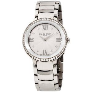 Baume Mercier Promesse Quartz Movement Silver Dial Ladies Watches M0A10199