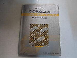 1990 toyota corolla electrical wiring diagram troubleshooting manual rh ebay com wiring diagram 1990 toyota pickup truck wiring diagram 1990 toyota truck tail lights