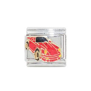Image is loading Red-sports-car-Italian-Charm-fits-9mm-Zoppini- d5edba8f5390