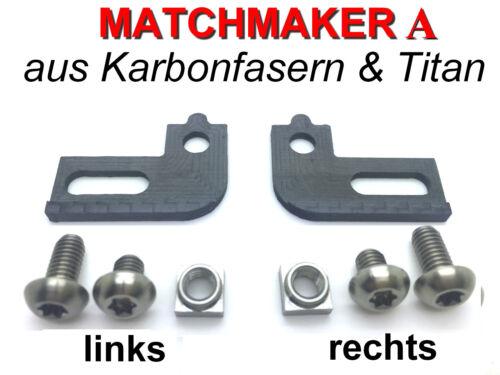 "Bremshebel zu Schalthebel gruppieren MATCHMAKER ""A"" oder /""B/"" aus Karbon+Titan"