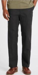 NEW-MEN-039-S-CHINO-TROUSERS-MARKS-amp-SPENCER-CHARCOAL-LIGHTWEIGHT-ACTIVE-WAIST