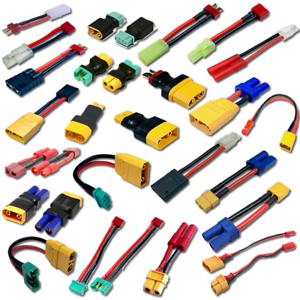 Lipo-bateria-adaptador-xt60-Dean-ec3-ec5-xt90-mini-Tamiya-Traxxas-MPX-xt30-ec2-HXT-RC