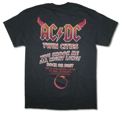 Paul Minnesota Event 2016 Rock Or Bust Black T Shirt New Official AC//DC St