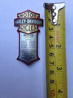 Harley Patented Curved Metal Emblem Fxsts Flsts Springer Made In Usa