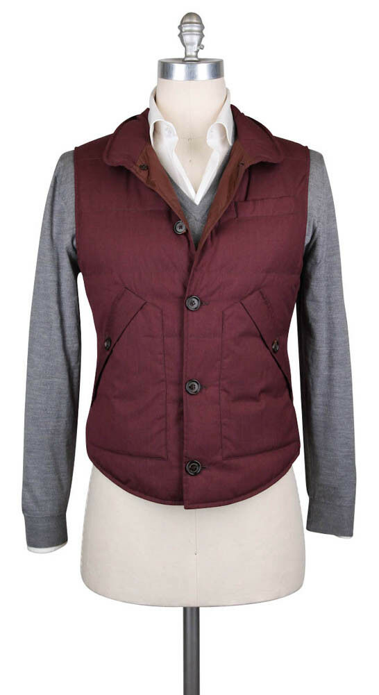 New 1995 Brunello Cucinelli ROT Wool Blend Solid Vest - (BC4111111764)