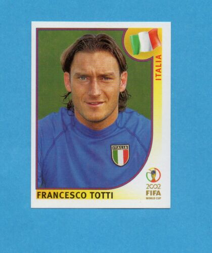 KOREA//JAPAN 2002-PANINI-Figurina n.470 TOTTI ITALIA-NEW BLUE BACK