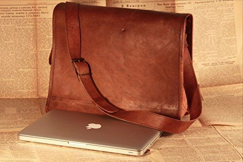 Men/'s Genuine Vintage Leather Messenger Shoulder Laptop Bag Leather Bag handmade