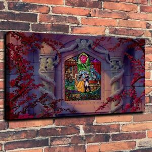 Beauty And The Beast La Belle Print Oil Painting On Canvas