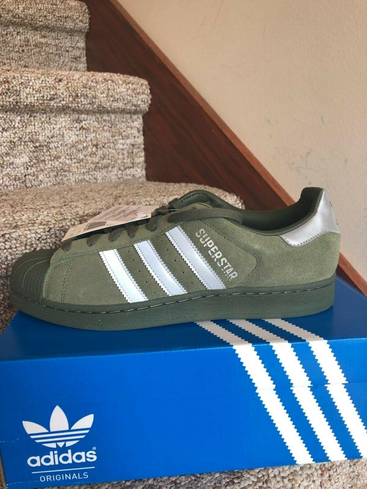 Adidas Superstar Mens verde scarpe  Dimensione 9.5 Casual scarpe da ginnastica Nuovo  prodotti creativi