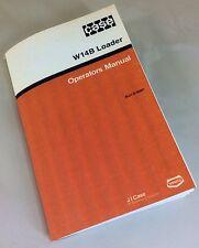 J I Case W14b Loader Operators Owners Manual Articulated Maintenance Controls