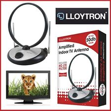 LLOYTRON A3104SV Amplified Indoor TV Antenna Aerial Input 4G LTE Filter Portable
