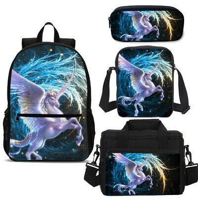 Cool Galaxy Starry Unicorn Backpack Lunchbox Cross Body Pencil Case Wholesale