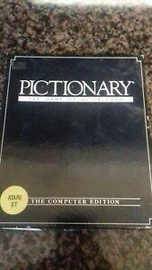 Pictionary Jeu Pour Atari St Vintage Gaming 1980 S Boxed-afficher Le Titre D'origine