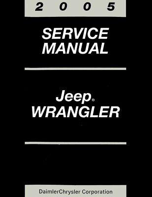 Bishko OEM Repair Maintenance Shop Manual Bound for Jeep Wrangler 1998