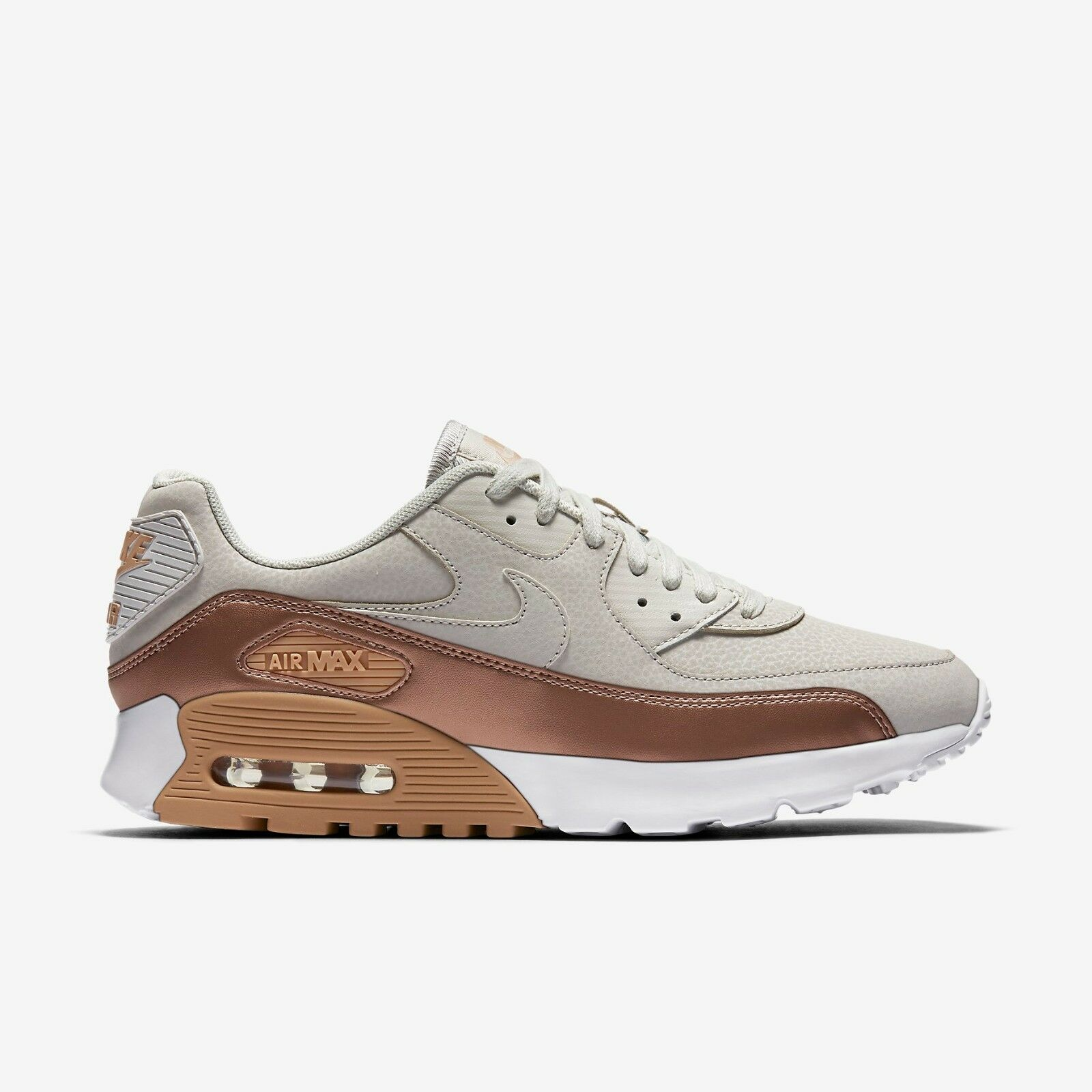NIKE AIR MAX 90 ULTRA SE WOMEN'S SHOE - Light Bone/White/Metallic Red Bronze