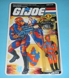 RECARDED-1989-GI-Joe-Cobra-Alley-Viper-Figure-Complete-CUSTOM-File-Card-Back